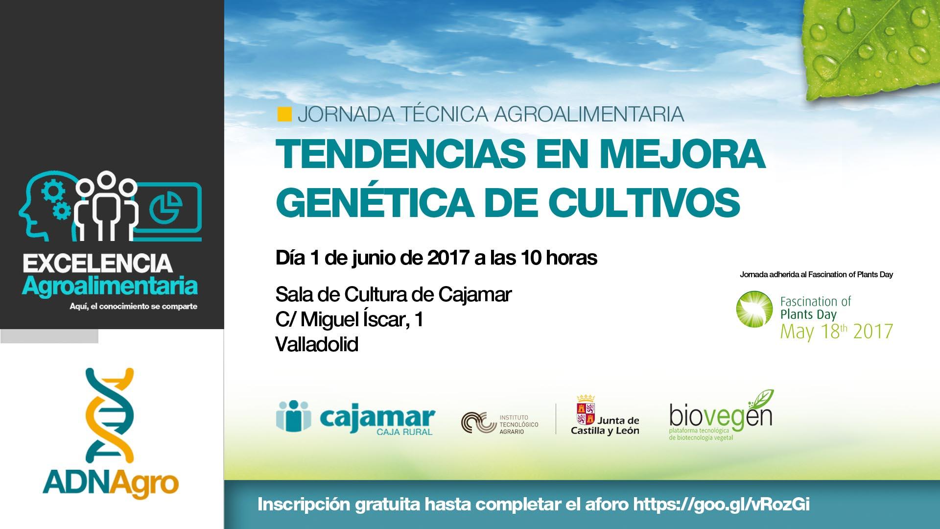 """Jornada """"Tendencias en mejora genética de cultivos"""""""