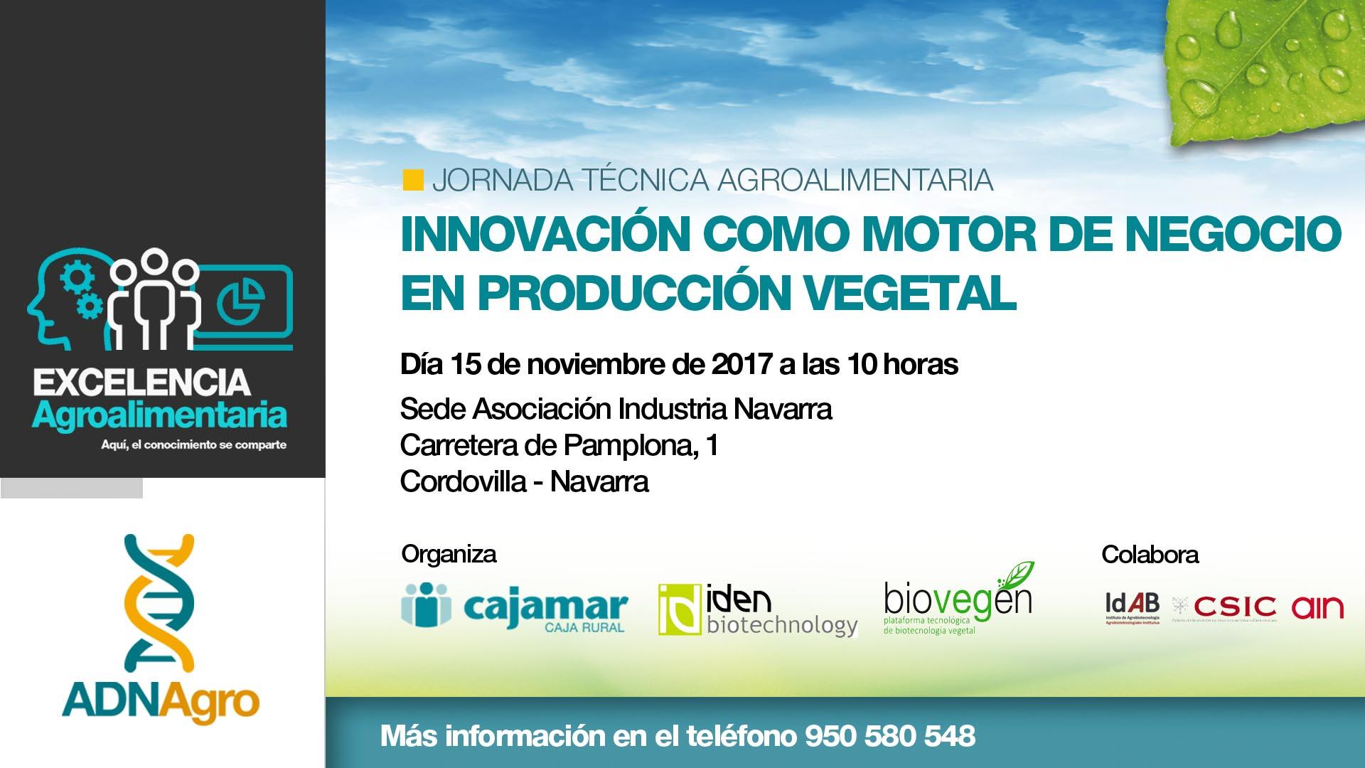Jornada «Innovación como motor de negocio en producción vegetal»