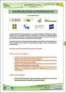 Boletín BIOVEGEN Propuestas I+D. 24 marzo 2020