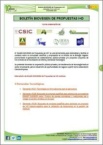 Boletín BIOVEGEN Propuestas I+D. 6 abril 2020
