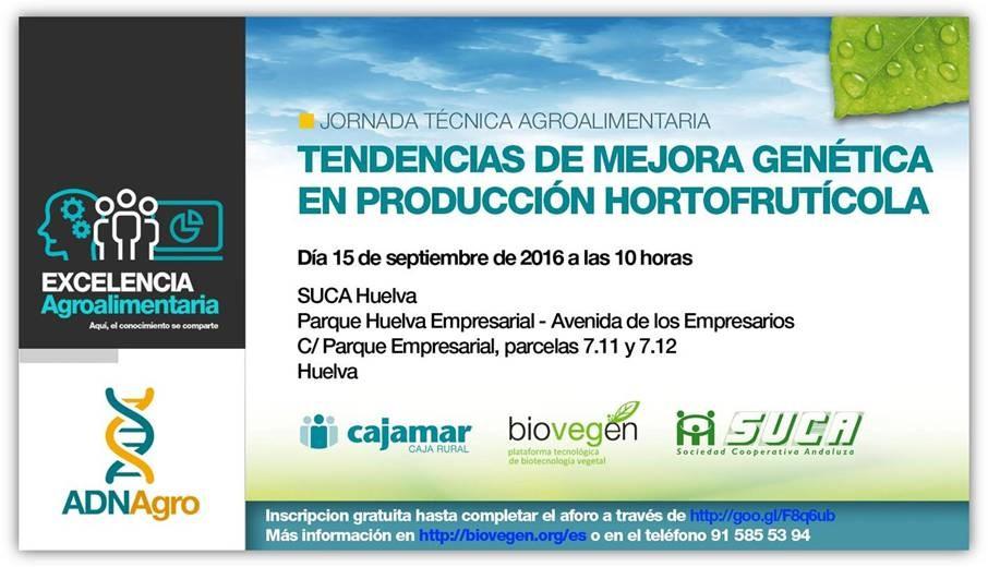 Jornada «Tendencias de mejora genética en producción hortofrutícola»