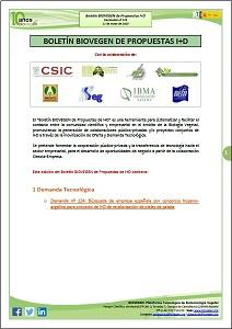 Boletín BIOVEGEN Propuestas I+D. 11 mayo 2020