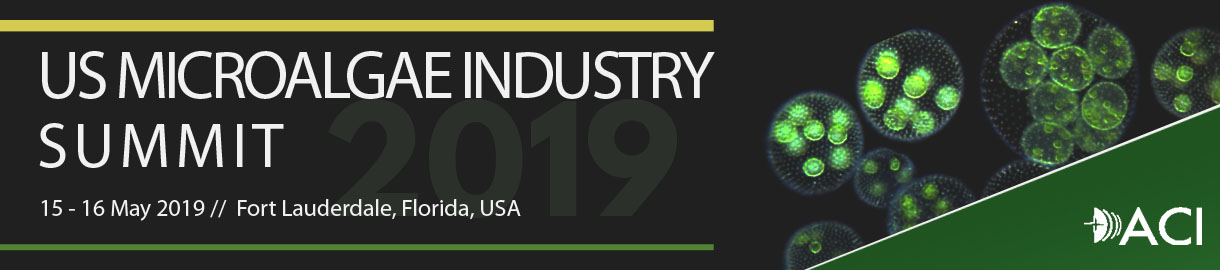 US MICROALGAE INDUSTRY SUMMIT 2019