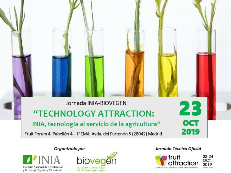 Jornada INIA-BIOVEGEN «TECHNOLOGY ATTRACTION: INIA, tecnología al servicio de la agricultura»