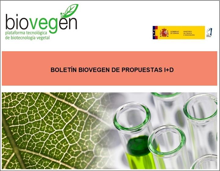 Boletín BIOVEGEN Propuestas I+D. 14 septiembre 2021