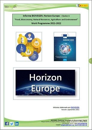 Informe BIOVEGEN. Clúster 6 «Alimentación, Bioeconomía, Recursos Naturales, Agricultura y Medio Ambiente»